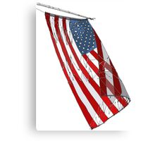 American Flag - Red, White and Blue Sketch Canvas Print