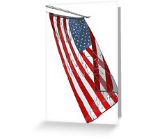 American Flag - Red, White and Blue Sketch Greeting Card