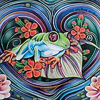 Floating Tree Frog by JacquelynsArt