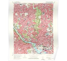 USGS Topo Map District of Columbia DC Washington West 256986 1965 24000 Poster