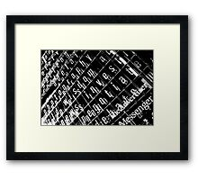 Photography Wisdom Framed Print