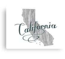 California State Typography Canvas Print