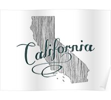 California State Typography Poster