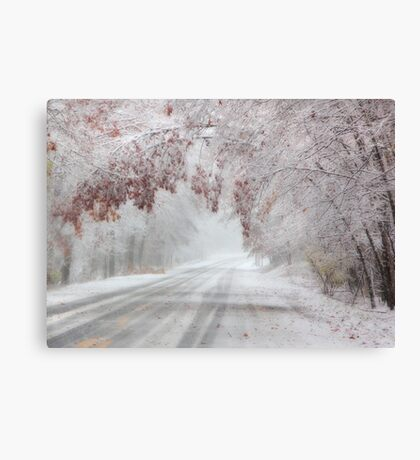 I'm Dreaming of a White Autumn Canvas Print