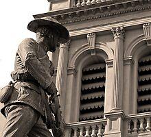Detail of South African war memorial in Bendigo by kitkat73