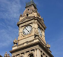 Clocktower of the old post office in Bendigo by kitkat73