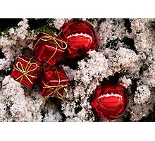 Christmas red and white Photographic Print