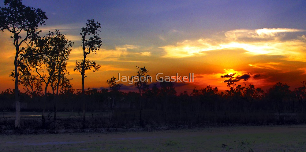 Waterhole sunset HDR by Jayson Gaskell