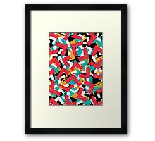Abstract grunge hipster pattern design Framed Print
