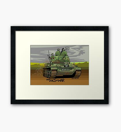 The Dogs of War: T34 Framed Print