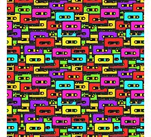 Colorful 80s analoge audio tapes Photographic Print