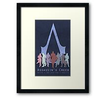 Assassin's Creed Game Poster Framed Print