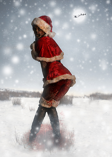 Mrs. Claus Zombie Pinup by mentalshed