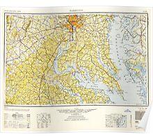 USGS Topo Map District of Columbia DC Washington 257784 1948 250000 Poster