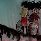 Bicycle and flowers. by LisaMM