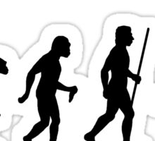 Evolution of Man and Hurdles Sticker