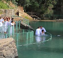 Baptised in the Jordan river #11 by Moshe Cohen
