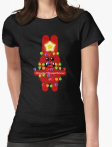 CHRISTMAS RABBITT Womens Fitted T-Shirt