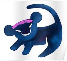 Simba (Dark Blue) Poster