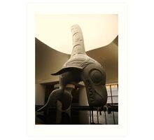 Haida Sculpture- Killer Whale Art Print