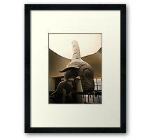 Haida Sculpture- Killer Whale Framed Print