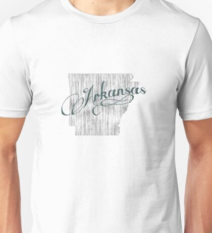Arkansas State Typography Unisex T-Shirt
