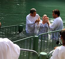 Baptised in the Jordan river #18 by Moshe Cohen
