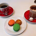 Coffee + Chocolate + Cake + Macarons = Yummy! by sarbi