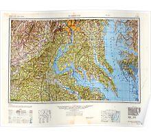 USGS Topo Map District of Columbia DC Washington 707833 1948 250000 Poster