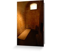 gaol cell Greeting Card