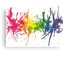 Rainbow Stains Canvas Print