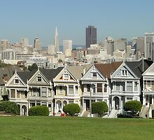 The Painted Ladies - San Francisco by Barrie Woodward