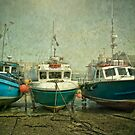 Boats at Newquay by Tarrby
