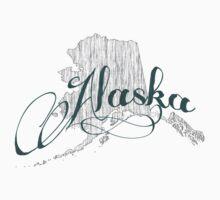 Alaska State Typography One Piece - Short Sleeve