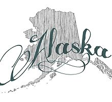 Alaska State Typography by surgedesigns