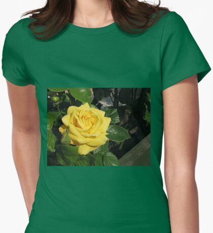 Spring Rose Womens Fitted T-Shirt