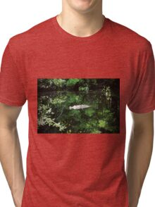 Alligator In The Middle Tri-blend T-Shirt