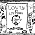 Loved by Everyone by Bashar Assad book cover cartoon by bubbleicious