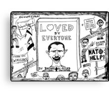 Loved by Everyone by Bashar Assad book cover cartoon Canvas Print