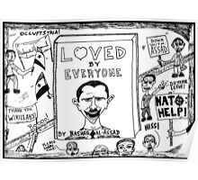 Loved by Everyone by Bashar Assad book cover cartoon Poster