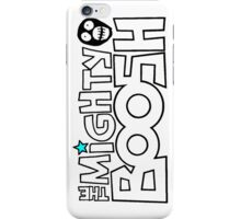 The Mighty Boosh – Black Stencilled Writing & Mask iPhone Case/Skin