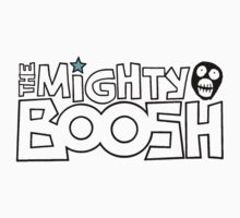 The Mighty Boosh – Black Stencilled Writing & Mask Kids Clothes
