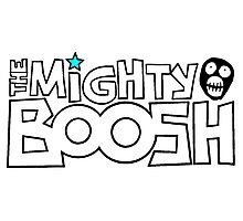 The Mighty Boosh – Black Stencilled Writing & Mask Photographic Print