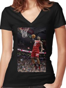 Lebron James Miami Heat Women's Fitted V-Neck T-Shirt
