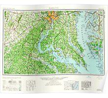 USGS Topo Map District of Columbia DC Washington 257785 1961 250000 Poster