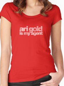 Ari Gold is my Agent (White) Women's Fitted Scoop T-Shirt