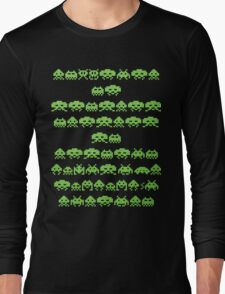 Space Invaders Green Goop Long Sleeve T-Shirt