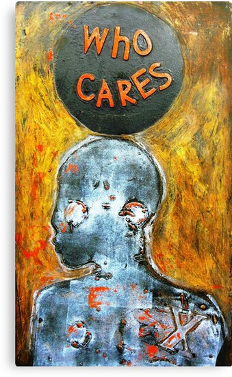 """Who Cares"" - Matrix by Belinda ""BillyLee"" NYE (Printmaker)"