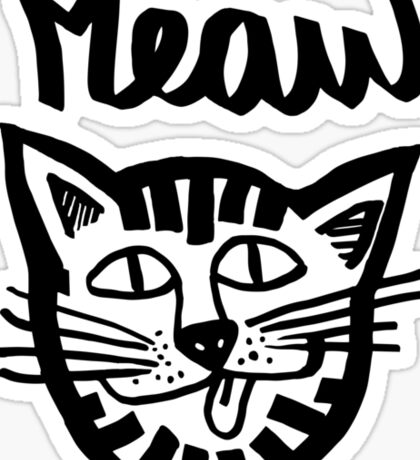 MEAW OMBRE CAT Sticker