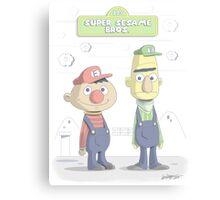 Super Sesame Bros. Canvas Print